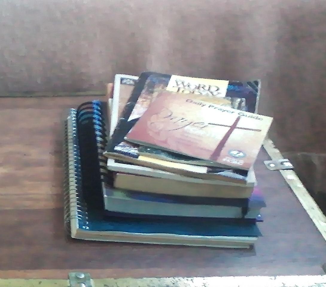 Prayer books in War Room